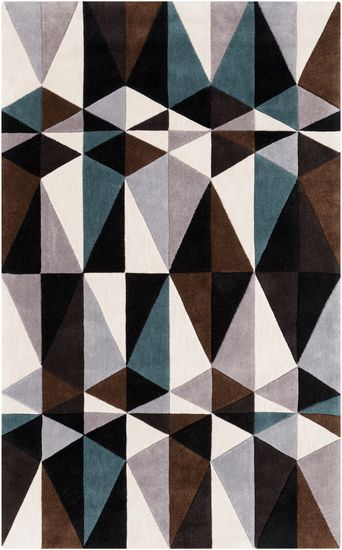 I want to move to a state where I can legally marry this rug. Ever so cool. Geometric Cosmopolitan rug from Surya (COS9179-58)