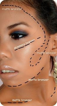 59 best bronzer images on pinterest make up beauty tips and makeup great guide on how to apply your bronzer ccuart Images