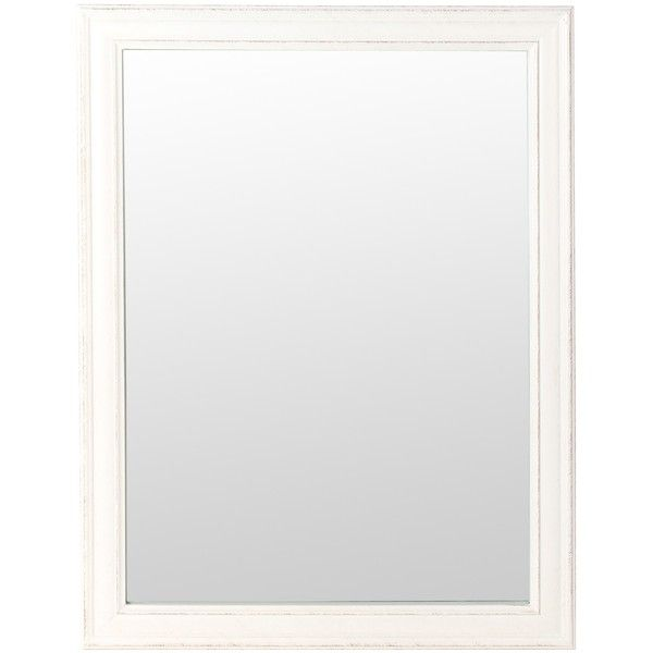 CLASSIC Mirror 60x80cm (White) (31 CAD) ❤ liked on Polyvore featuring home, home decor, mirrors, white framed mirror, framed mirrors, white mirrors, white home decor and white home accessories