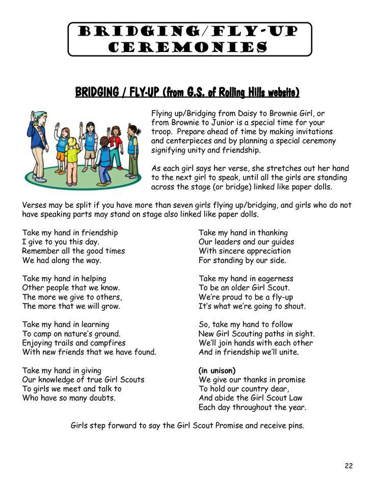 Brownie to Junior Bridging Poem | just b.CAUSE