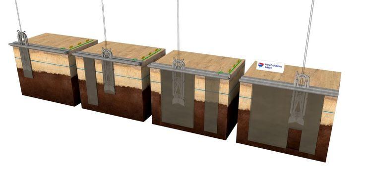 Franki Foundations - Cut-off wall (cement-bentonite slurry wall)