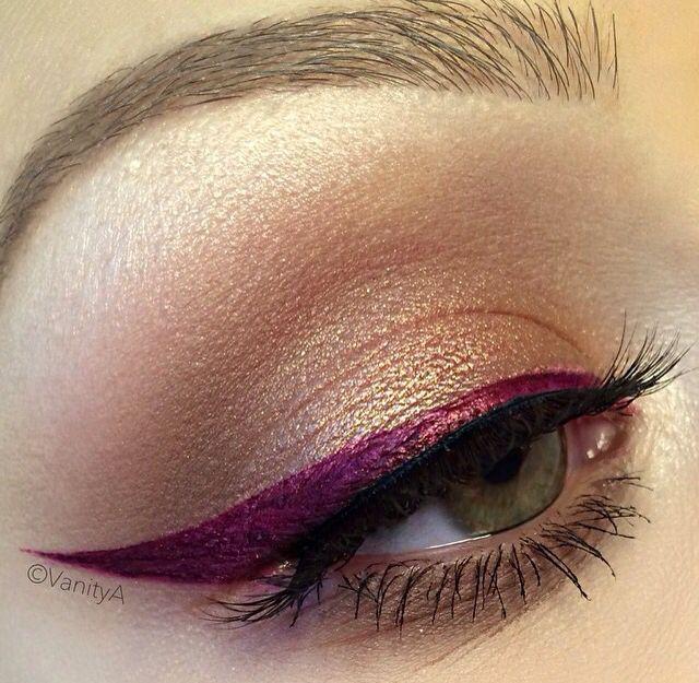 "Anastasia's Liquid Lipstick in ""Sad Girl"" used for liner, warm purple"