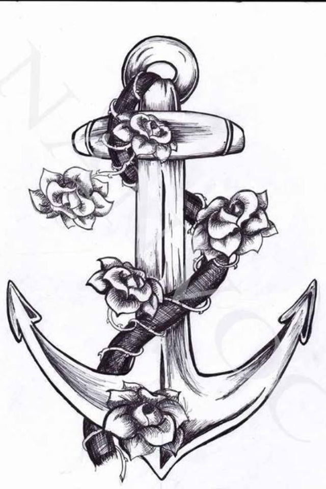 An anchor drawing