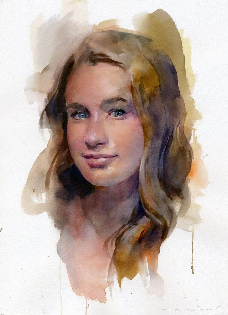 Extrêmement 514 best Portraits in watercolor images on Pinterest | Watercolor  BR41