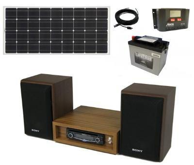 お日様のエネルギーは音楽を美しくする。 【12V専用】直流電源オーディオ システムセット