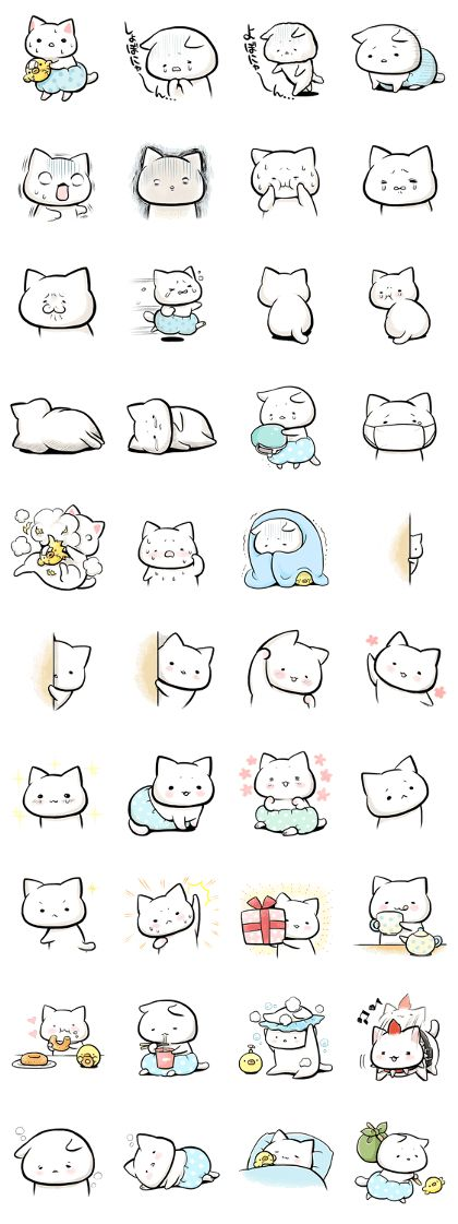 """Negative cat """"Syobonyan"""" becomes a stamp and plays an active part! Expression is very rich and easy-to-use."""