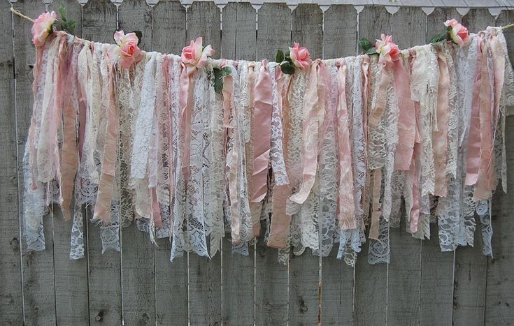 Shabby chic lace garland