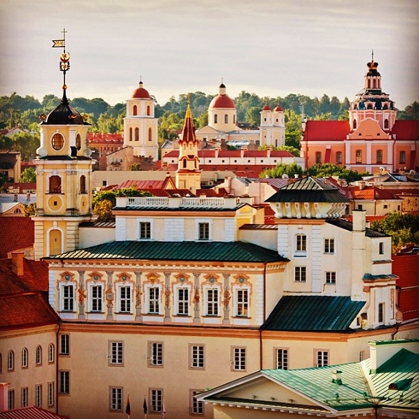 Enjoy stectacular Vilnius Old Town view from Kempinski Hotel Cathedral Square.