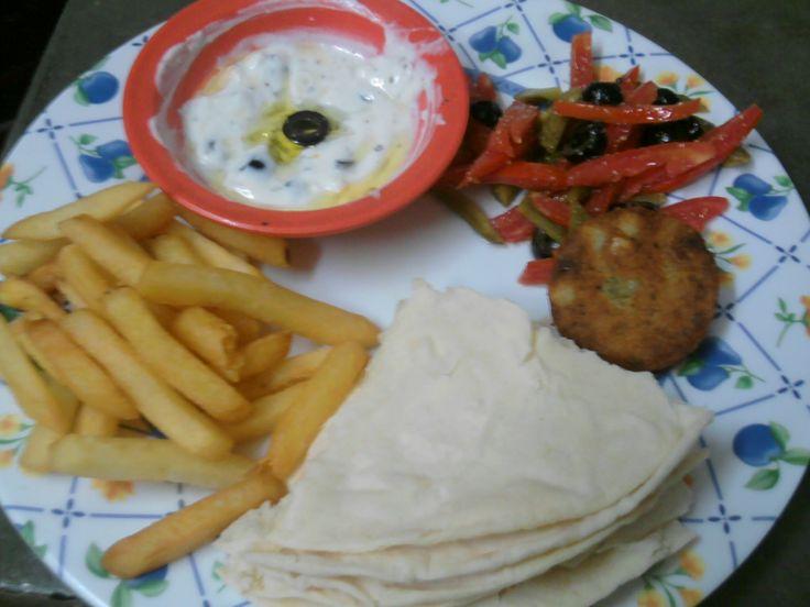 veg mezze platter