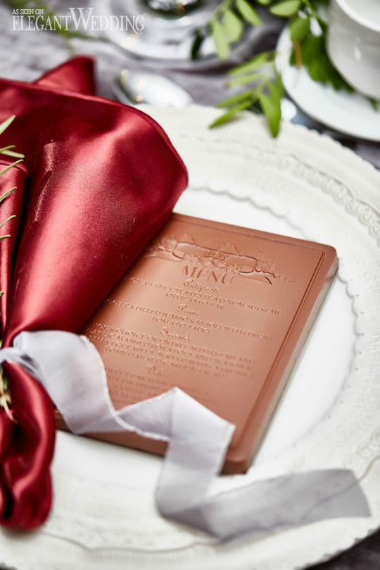Chocolate Menus, Chocolate Wedding Menu, Chocolate Wedding Ideas #weddingmenus #chocolatemenus