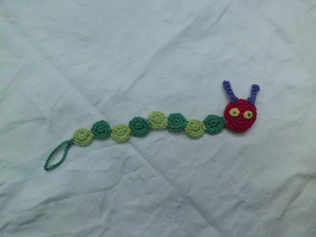 Ravelry: caterpillar pacifier clip pattern by mause zaehnchen