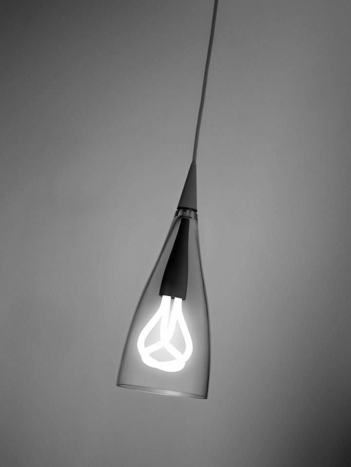 Plumen 001 light bulb in gorgeous Nite Shade by Jorge Pensi Design Studio.