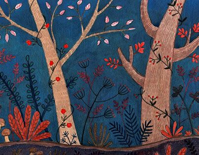 """Check out new work on my @Behance portfolio: """"summer forest"""" http://be.net/gallery/40684061/summer-forest"""