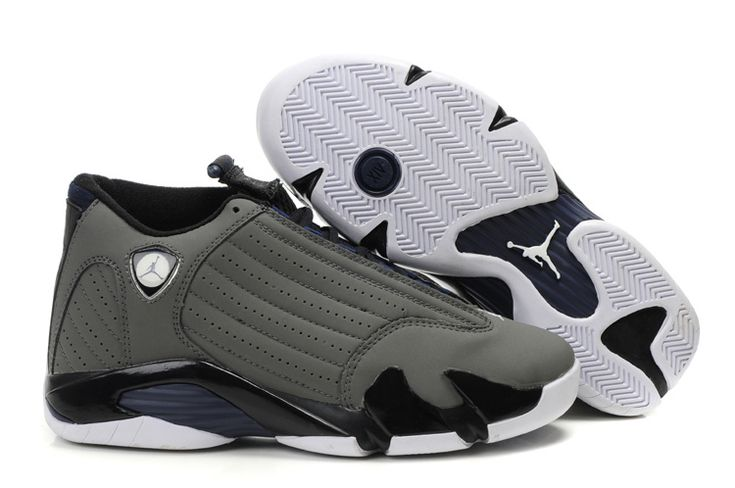 Air Jordan 14 Retro Light Graphite Navy Black | Air Jordan 14 Retro | Pinterest | Jordan 14, Air Jordans and Jordans