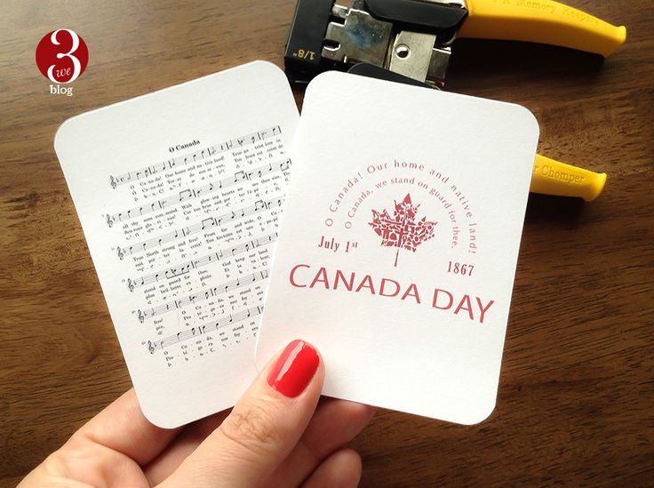FREE Journal Cards | O Canada | We 3