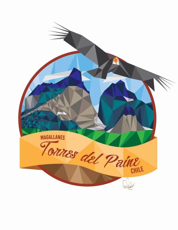 Torres del Paine vector
