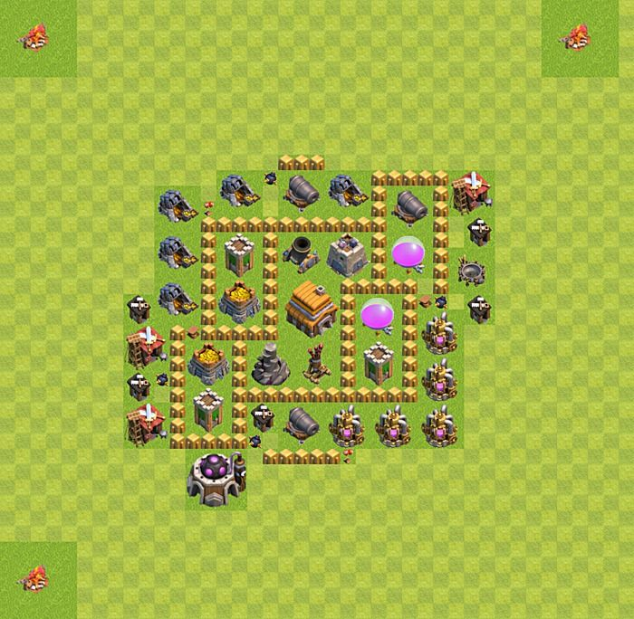 22 Best Clash Of Clans Town Hall 5 Layout Images On
