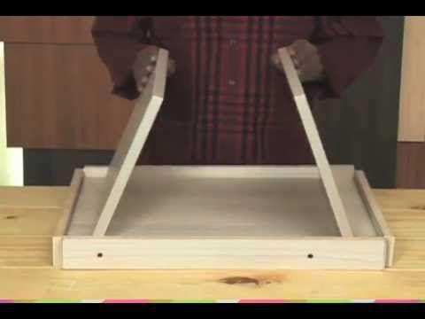 Hechos a mano |¿Cómo hacer una mesa para la cama? - YouTube