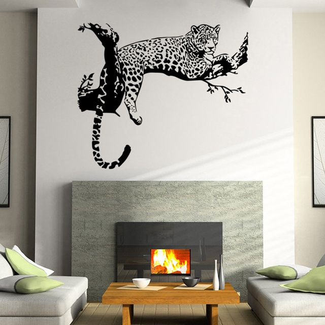 Check current price Wall stickers for kids rooms decals home decor Leopard Wall Stickers Living Rooms Vinyl Removable Decal/Wall Murals 60*90cm just only $3.48 with free shipping worldwide  #wallstickers Plese click on picture to see our special price for you