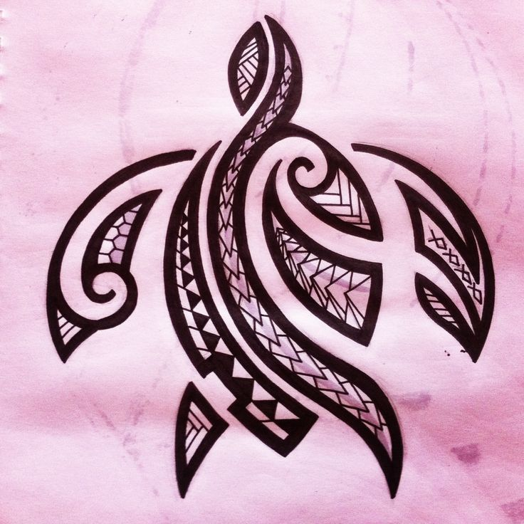 Maori tattoo turtle design