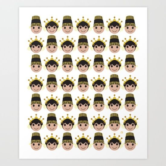 Iconic Headdress - East Java Art Print by ZaryaKiqo