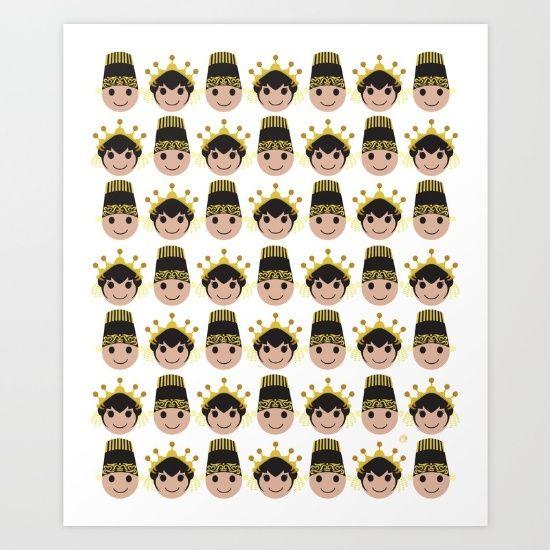 Iconic Headdress - East Java Art Print by ZaryaKiqo