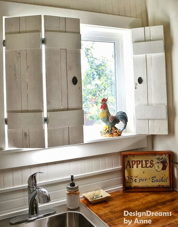 Make charming window shutters for $10! - Design Dreams by Anne featured on http://www.ilovethatjunk.com/