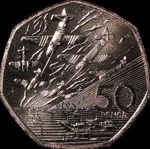 Rare UK 50 pence coins, United Kingdom, British 50p Coins. Circ.