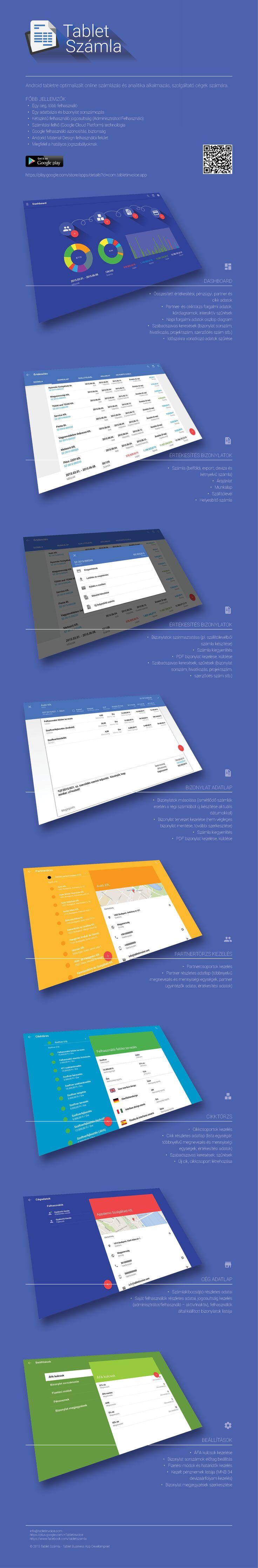 Tablet Számla Online Számlázó és Analitika App felhasználói felület és felhasználói élmény (UI/UX).  #ui, #ux, #számlázó, #onlineszámlázó, #számlázóapp