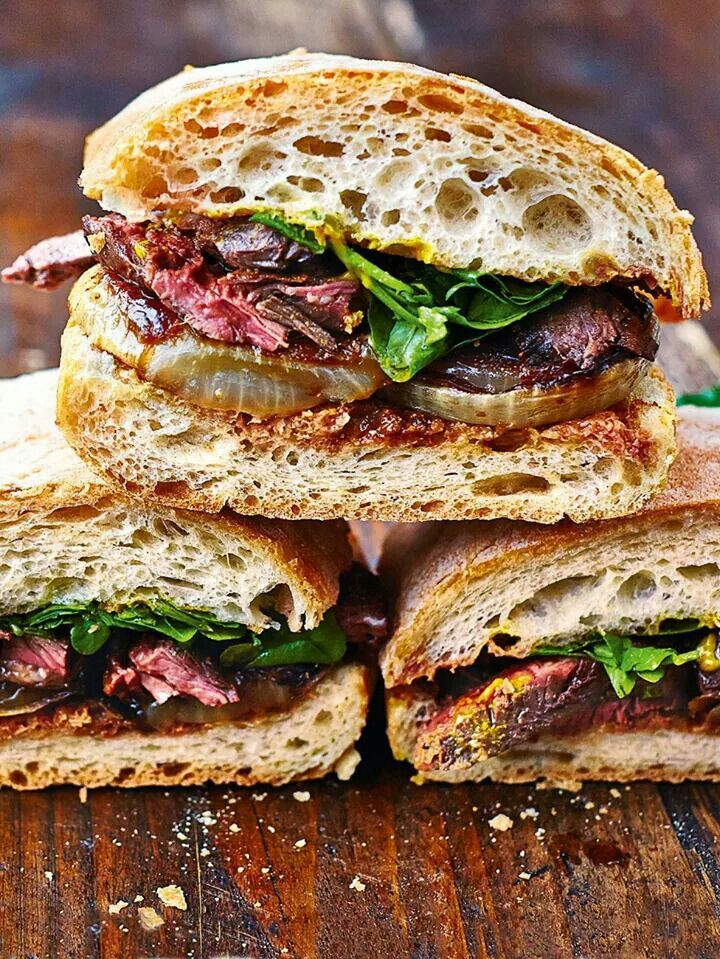 Steak and onion sandwich