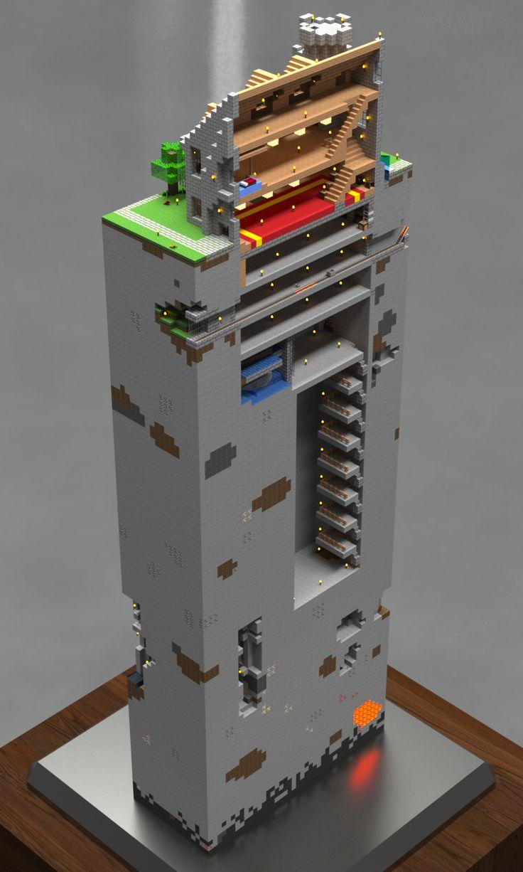 Cool render of a base cutaway.