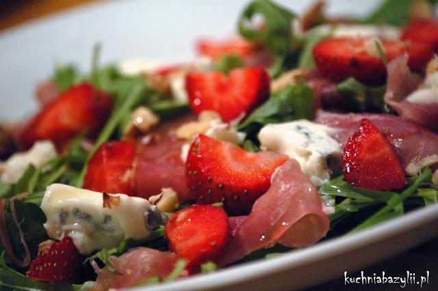 Kuchnia Bazylii: Truskawka, gorgonzola i rukola!