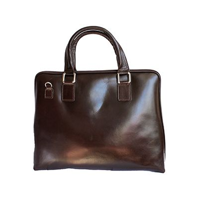 Ladies Dark Brown Leather Briefcase Handbag - RRP: £84.99, our price - £59.99