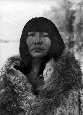 Mujer Selkman Tierra del Fuego, Chile Año 1923