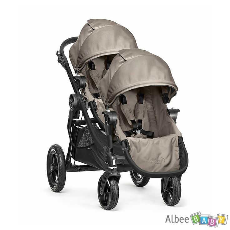 SAVE 19% -  Baby Jogger City Select Double Stroller - Sand - WAS $669.95, NOW $539.99. Includes City Select Stroller and Second Seat Kit. With a few simple clicks, the City Select® Second Seat Kit turns your City Select® Single into a City Select® Double! www.albeebaby.com