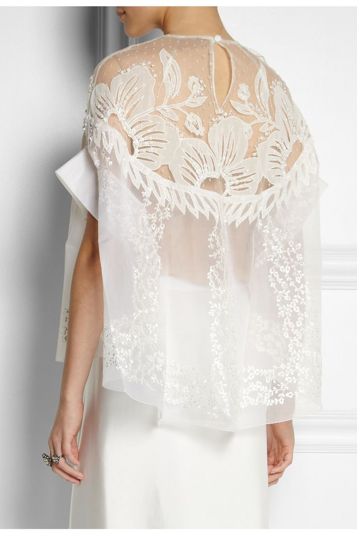 BIYAN Solana embroidered silk-blend organza top $2,365