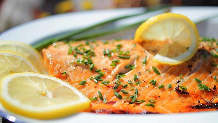 Saumon mariné au barbecue @ allrecipes.fr
