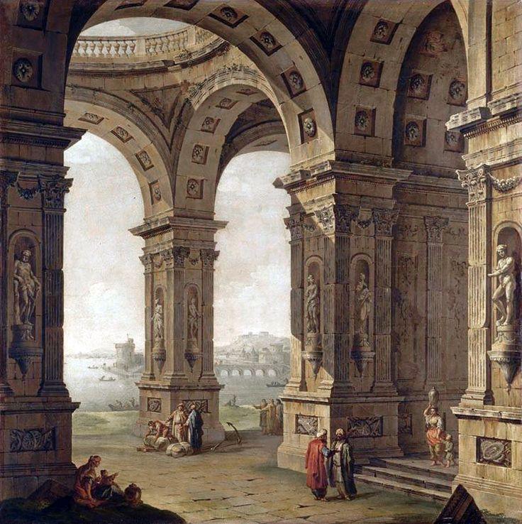 Antonio Joli (1700–1777): Capriccio.