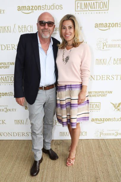 Lorenzo Soria and Lilla Soria attend the Amazon Studios official after party for 'Wonderstruck' at the iconic Nikki Beach popup venue during the 70th...