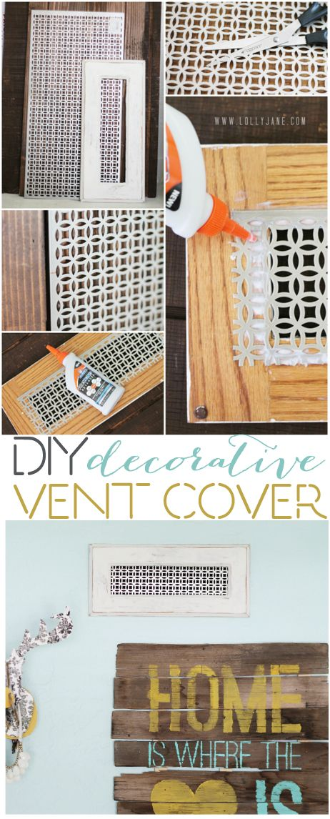 DIY Decorative Vent Cover... cover up that ugly standard vent cover with this easy tutorial! #homeimprovement
