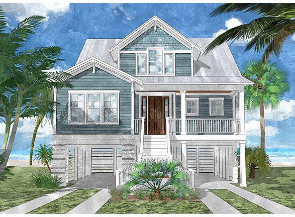 Coastal Home Plans - Bluefin Channel