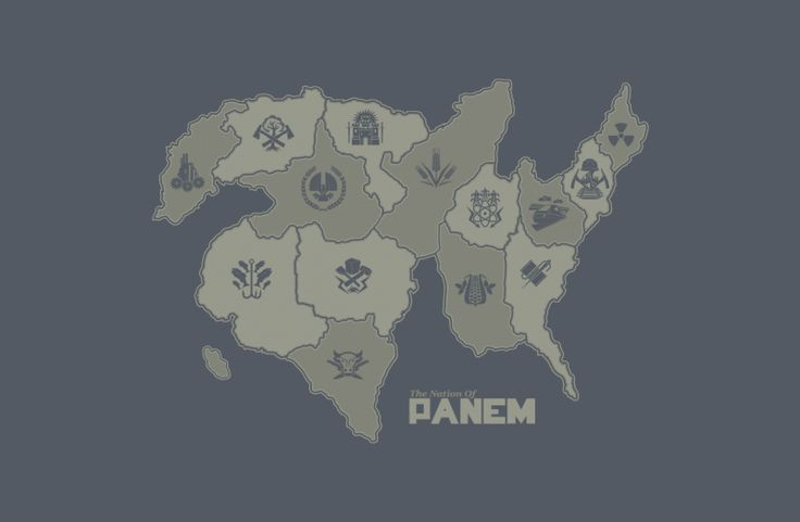 The Districts of Panem - made in the shirt district.