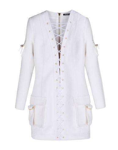 BALMAIN Short Dress. #balmain #cloth #dress #top #skirt #pant #coat #jacket #jecket #beachwear #
