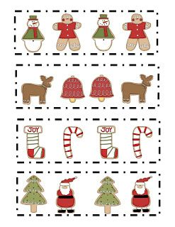preschool printables free christmas cookie pattern printable christmas pinterest. Black Bedroom Furniture Sets. Home Design Ideas