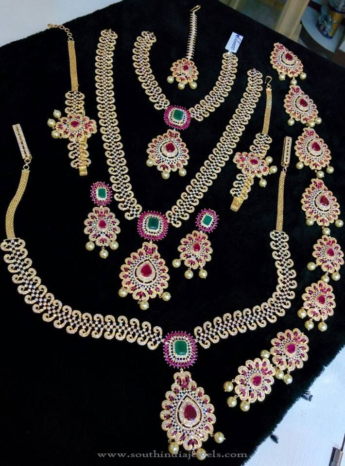 One Gram Gold Bridal Jewellery Sets, 1 Gram Gold Bridal Jewellery Sets, One Gram Gold Wedding Jewellery Sets.