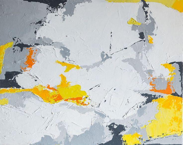 Przebłyski - 80x100cm - abstrakcyjny obraz ręcznie malowany na płótnie - Sztuka - DecoBazaar Acrylic abstract painting 80x100 cm by Agnieszka Potocka - Studio Plama, (Cracow, Poland). Shop online on DecoBazaar!