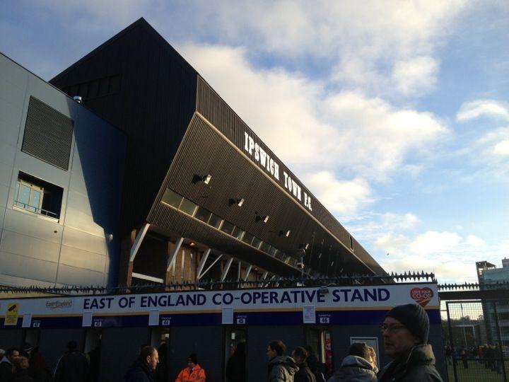 Portman Road Stadium in Ipswich, Suffolk