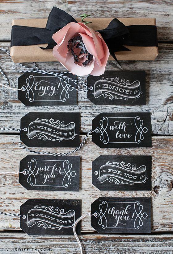 Free Printable: chalkboard gift tags