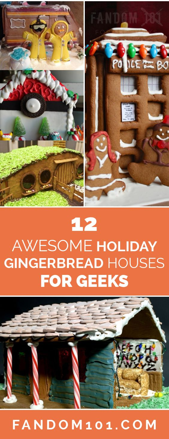 Need some inspiration for your gingerbread house this year? Look no further than these 12 jaw-dropping nerdy masterpeices.