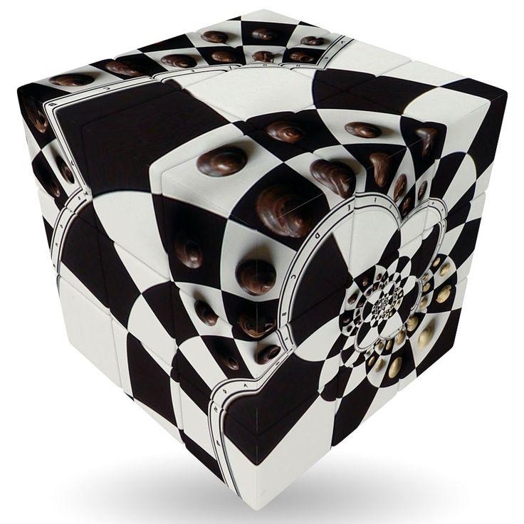 Der V-Cube 3 mit Schachbrett- Motiv, welches die Lösung des Würfels noch erschwert. Der exklusive Würfel ist jeweils in Höhe, Breite und Tiefe in drei Ebenen unterteilt. Diese lassen sich superleicht drehen. Ziel ist es, den Würfel...